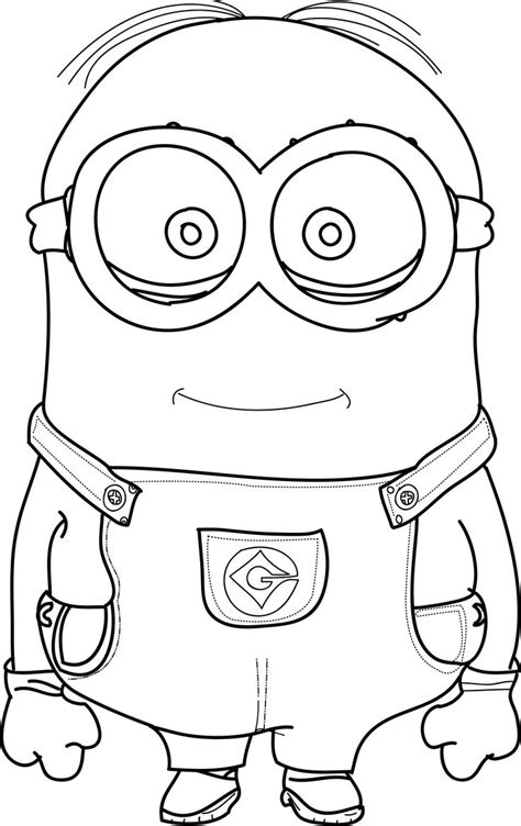 coloring pages cute minions cool minions coloring pages wecoloringpage pinterest