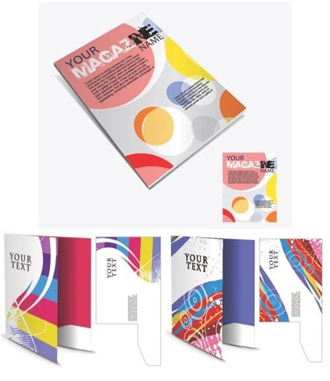 magazine layout vector free download 16 vector brochures templates images free vector