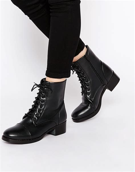 rebel rebel worker flat lace up ankle