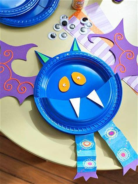 bat paper plate craft preschool crafts for bright paper plate
