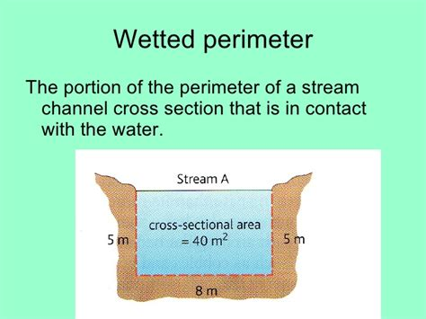 how to find the perimeter of a cross section changing channel characteristics