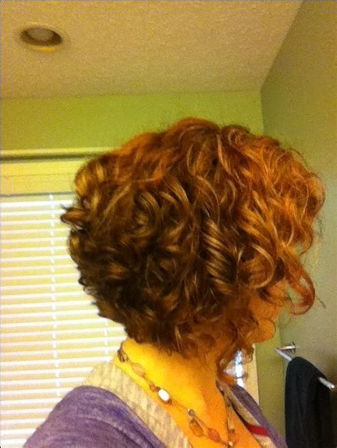 stacked curls the 25 best curly stacked bobs ideas on pinterest short