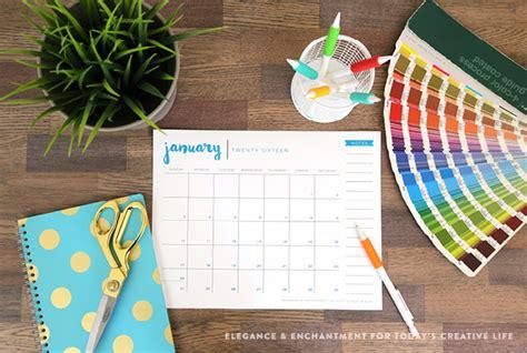 printable calendar 2015 creative free printable 2016 desk calendar today s creative life