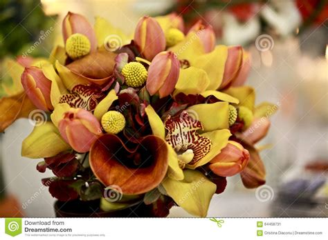 Bridal Florist by Wedding Bouquets Stock Photo Image 64458731