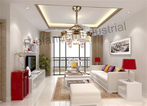 modern ceiling fan  light invisible led folding