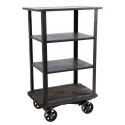 wheeled cart with shelves industrial rolling shelf cart