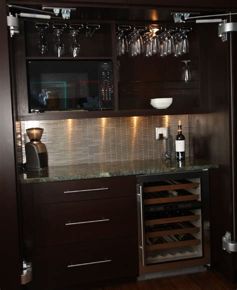 Mosaic Sconces Mini Bar Contemporary Kitchen Cleveland By