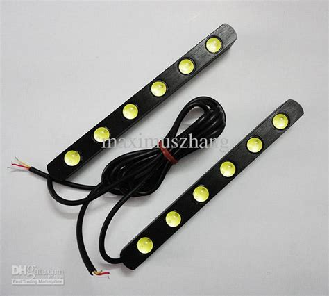 12v Led Light Strips Automotive 2x Drl 6 Led Light 12v High Power Auto Led Lights Waterproof Lens Universal Car Daytime