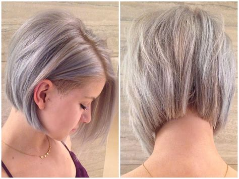 medium bob with undercut hair never even put up my favourite silver haircut combo