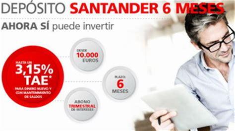 depositos bancarios a plazo fijo de banco santander banco santander sale a captar dep 243 sitos bancarios v 237 a