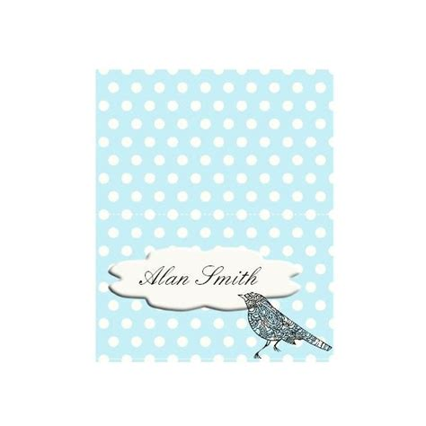 bird place card template free templates for wedding seating place cards in many styles