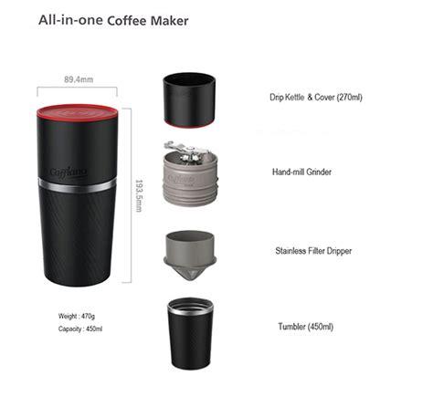 Coffee O Drip International Mini Box outdoor travel cing all in one handmill drip coffee maker mug cup tumbler ebay