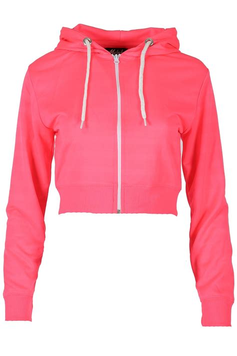 Cropped Sweatshirt womens fleece zipper up hoodie zipper sweatshirt