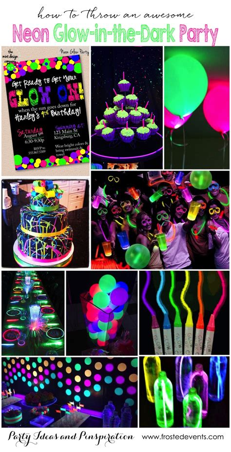 themes nice girl party themes neon party glow in the dark party ideas