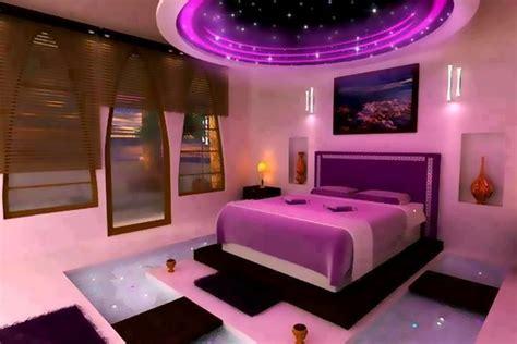 neon purple bedroom design uniqueness