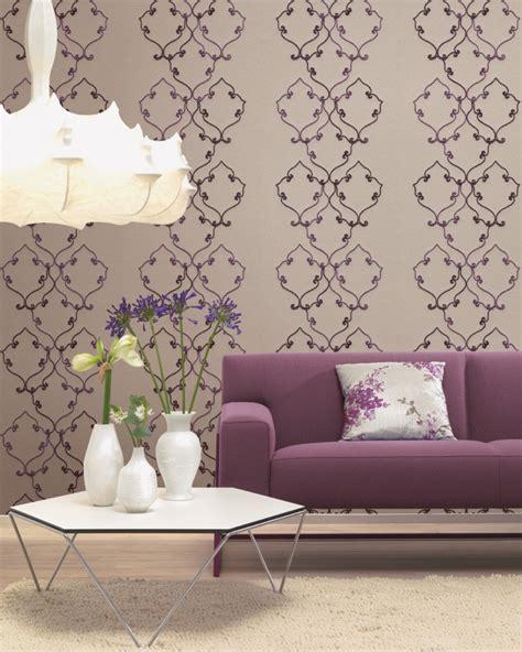tapeten wohnzimmer wohnzimmer tapeten mit eleganten ornamenten amira
