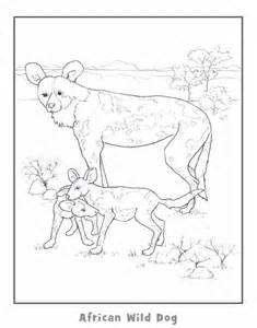 african hunting dog coloring pages