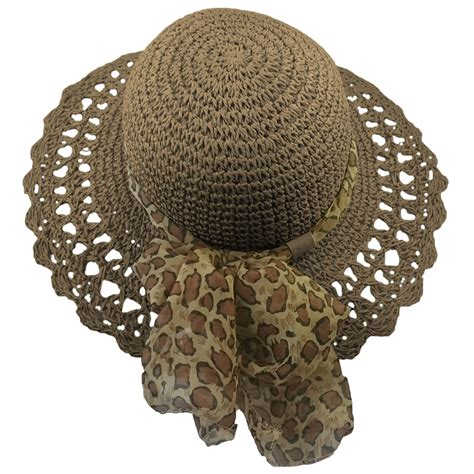 Animal Hat By Dewo Shop crushable straw hat with animal print band brown hats