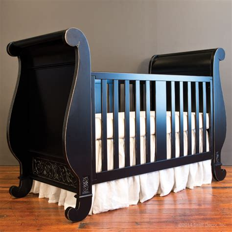sleigh bed crib chelsea sleigh crib distressed black
