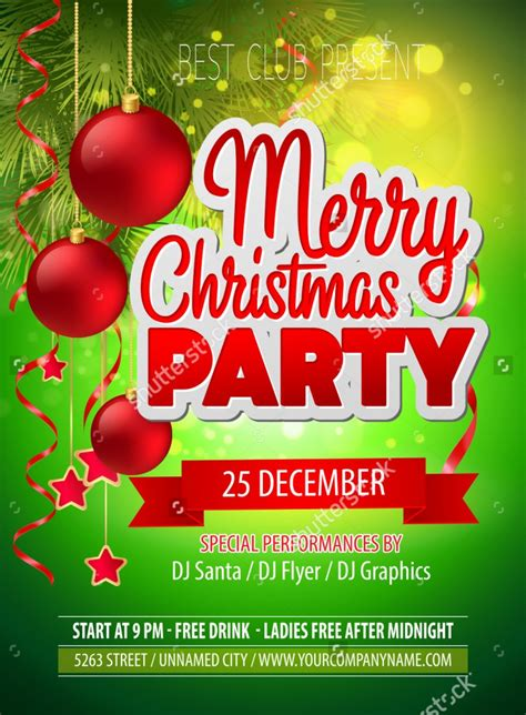 20 holiday party flyer printable psd ai vector eps