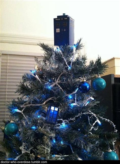 tardis christmas tree doctor who pinterest