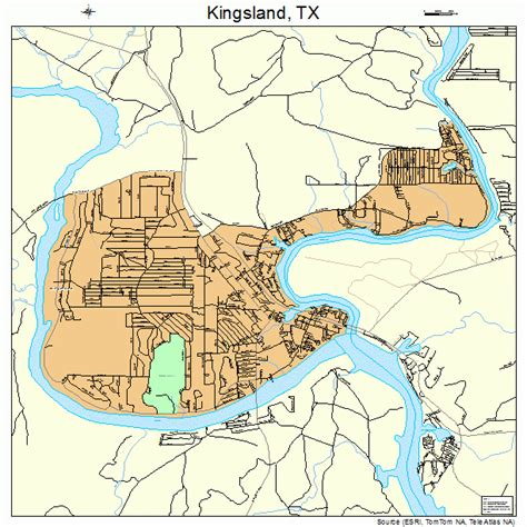 map of kingsland texas kingsland texas map 4839304