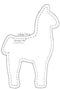 felt llama pattern alpaca pattern use the printable outline for crafts