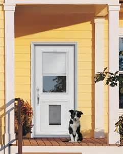 Exterior Door With Doggie Door Custom Doors With Doggie Door Jeld Wen 174 Steel And Fiberglass Doors With Installed Pet Door