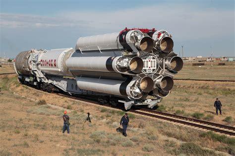 proton m rocket proton m rocket rolls to baikonur launch pad for