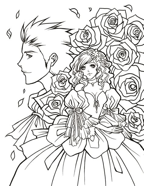 Manga Monday: Free Coloring Pages, Fine Art Inspiration