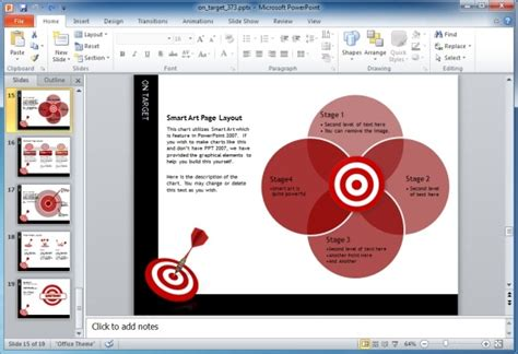 Image Gallery Editable Bullseye Free Smartart For Powerpoint