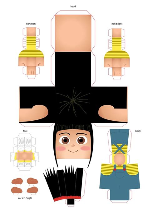 Despicable Me Papercraft - paper agnes from despicable me on behance