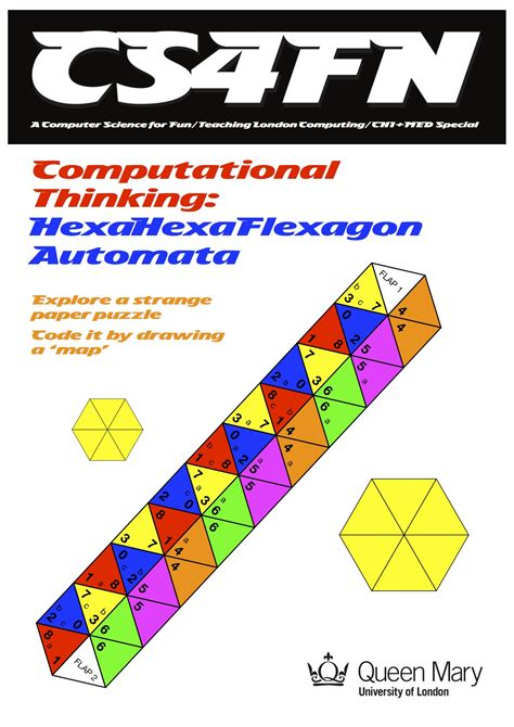 hexahexaflexagon template computer science for cs4fn computational thinking