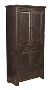 Wood Pantry Cabinet For Kitchen Primitive Kitchen Pantry Solid Wood Storage Cupboard Cabinet Country Wooden Farm Ebay
