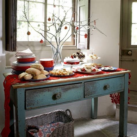 country homes and interiors recipes country style buffet lunch table country table