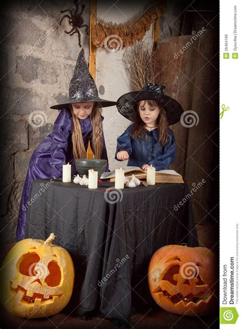 two little witches a 0763633097 two little witches royalty free stock images image 26464199