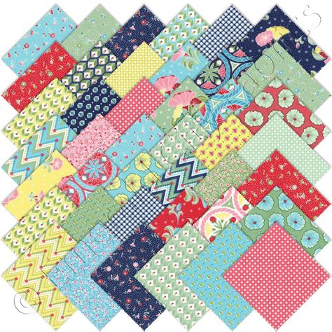 Quilt Fabrics by Moda Pedal Pushers Charm Pack Emerald City Fabrics