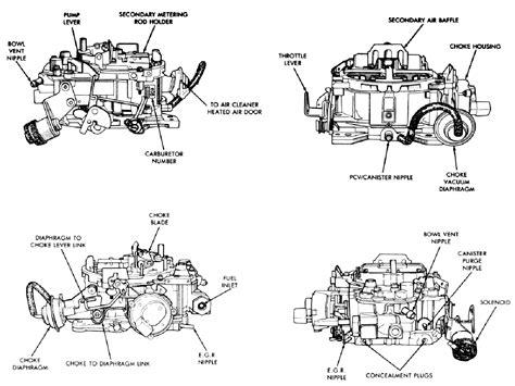 diagram gm 350 carburetor diagram