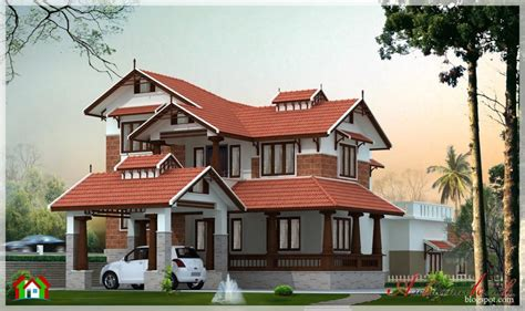 different house design 2 different 3d home elevations architecture house plans 4 different style india house