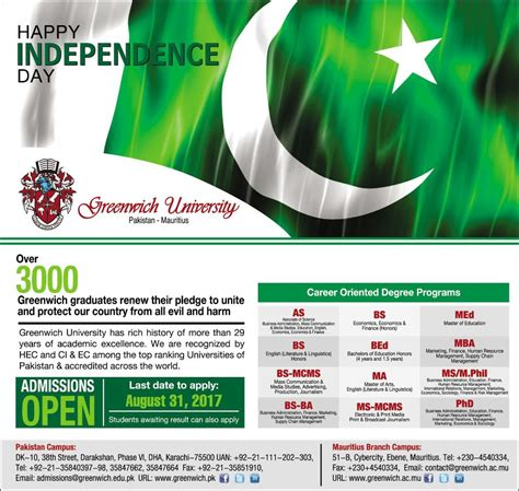 Greenwich School Of Management Mba by Admission Open In Greenwich Karachi 14 Aug 2017