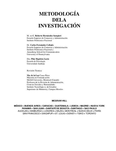 preguntas de investigacion segun kerlinger metodolog 237 a de la investigaci 243 n roberto hernandez sieri