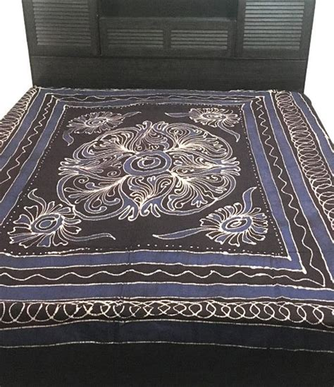 pillow covers and bed sheets handloom batik print double bedsheet without pillow cover