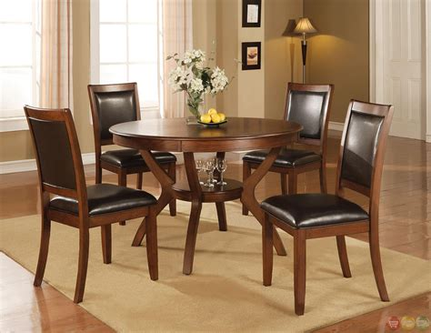 5 piece dining room sets nelms walnut finish casual 5 piece dining room set