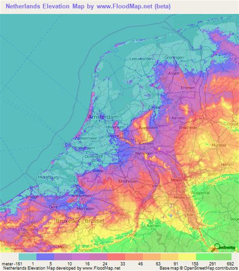 Finder Netherlands Netherlands Elevation And Elevation Maps Of Cities Topographic Map Contour