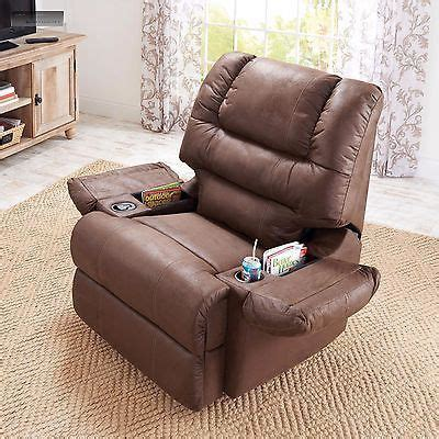 rocker recliner with cup holder new brown rocker recliner cup holder lazy chair seat
