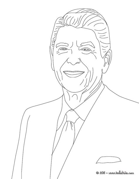 president ronald reagan coloring pages hellokids com