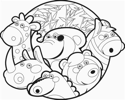 printable coloring pages zoo animals zoo animals free printable coloring pages 611379