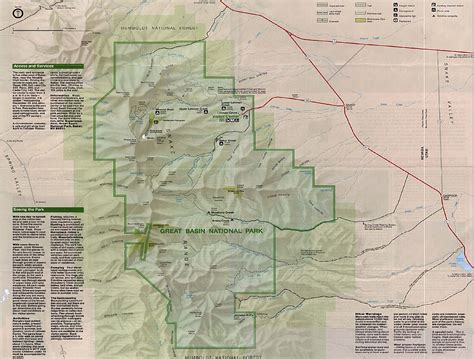 great basin on a map maps of great basin national park shaded relief map