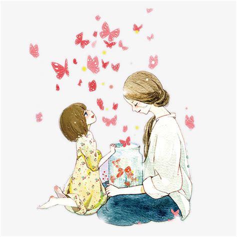 imagenes lindas madre e hija el dia de la madre material chica de dibujos animados