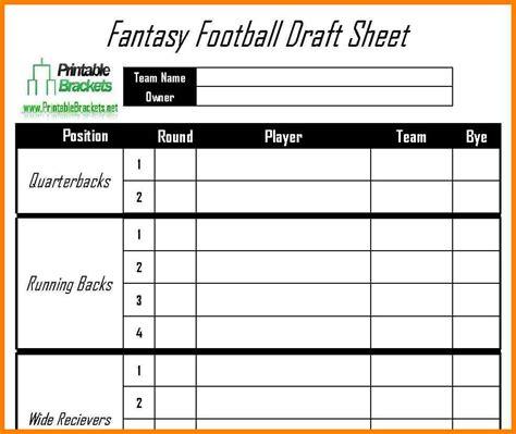 Football Roster Sheet Template
